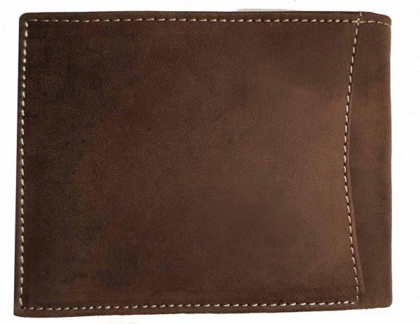 Büffelleder Portemonnaie rückseite