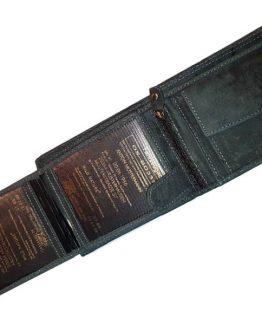 büffelleder portemonnaie herren used look mit ausweisen