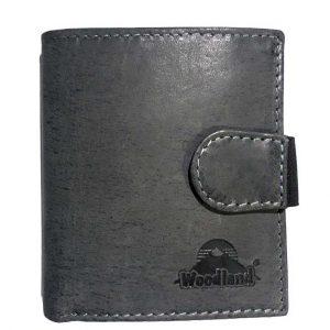 Woodland® Portemonnaie Büffelleder Anthrazit mit 18 Kreditkartenfächern