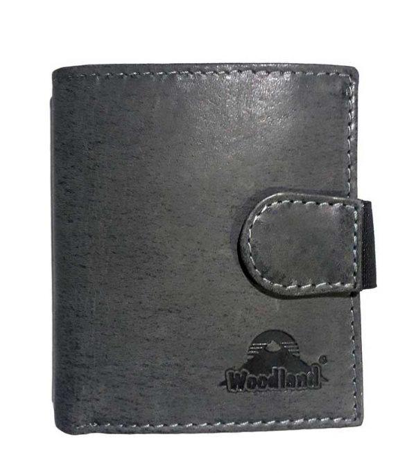 Woodland Portemonnaie Büffelleder Anthrazit