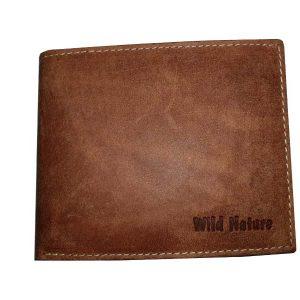 Portemonnaie aus Büffelleder – Farbe Cognac – used-look