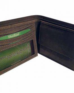 woodland portemonnaie büffelleder braun innenansicht