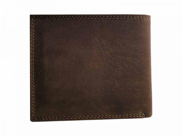 woodland portemonnaie büffelleder braun von hinten