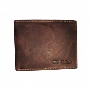 Portemonnaie aus Büffelleder – Farbe Dunkelbraun – naturbelassen