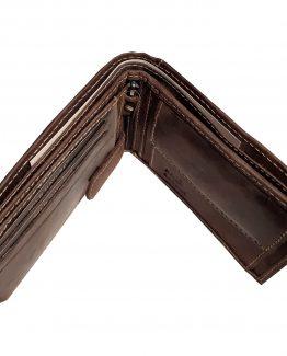 herren portemonnaie büffelleder dunkelbraun