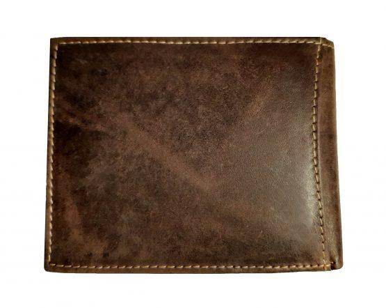 braunes büfelleder portemonnaie echtes leder rückseite